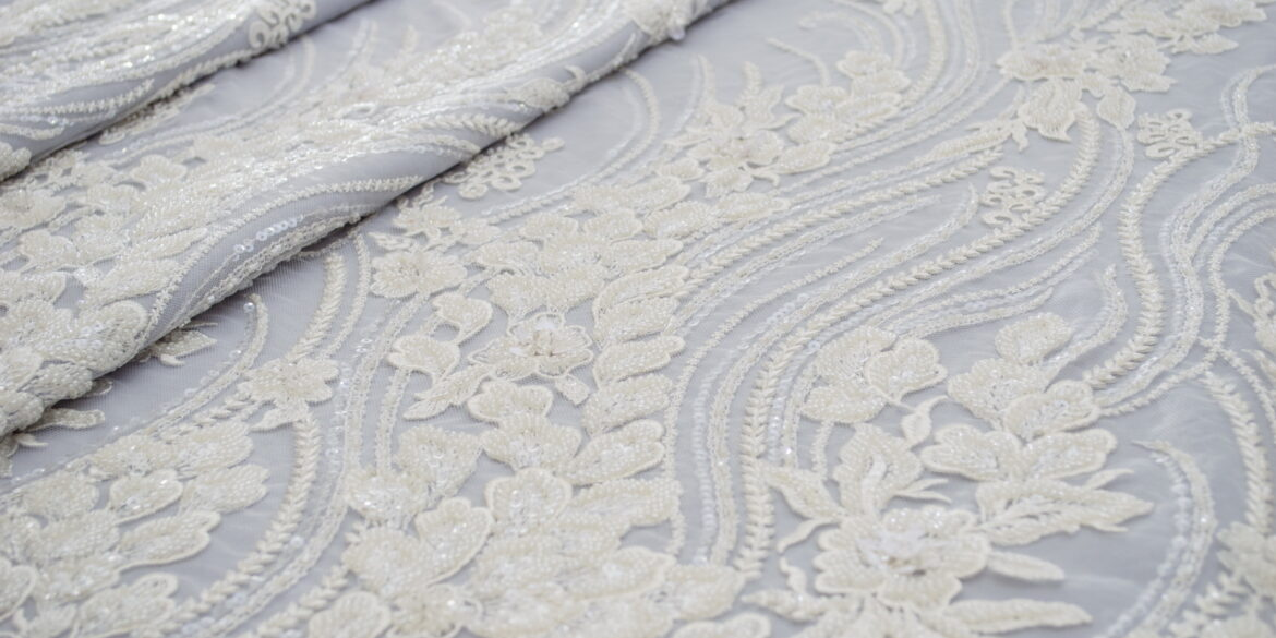 Embroidered one sided lace