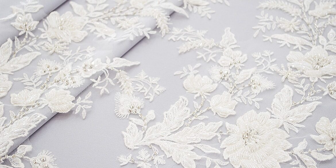 Embroidered lace motifs