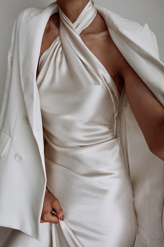 Lightweight crepe dress