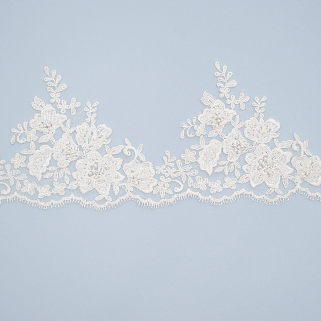Embroidered lace trim AC11311V2FB-1-N44