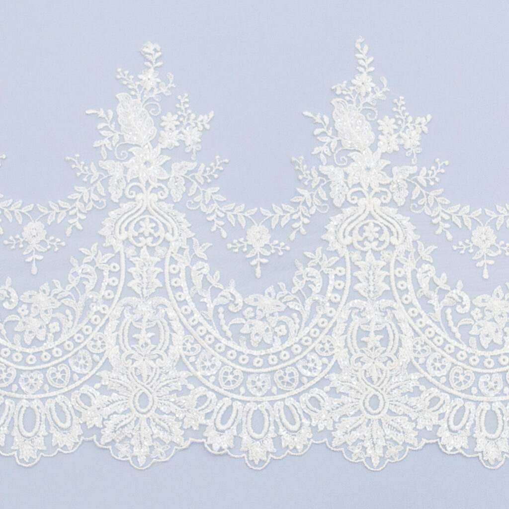 Sequined lace trim AM13554F-N44