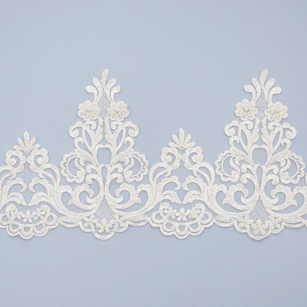 Embroidered lace trim AM13694B-N44