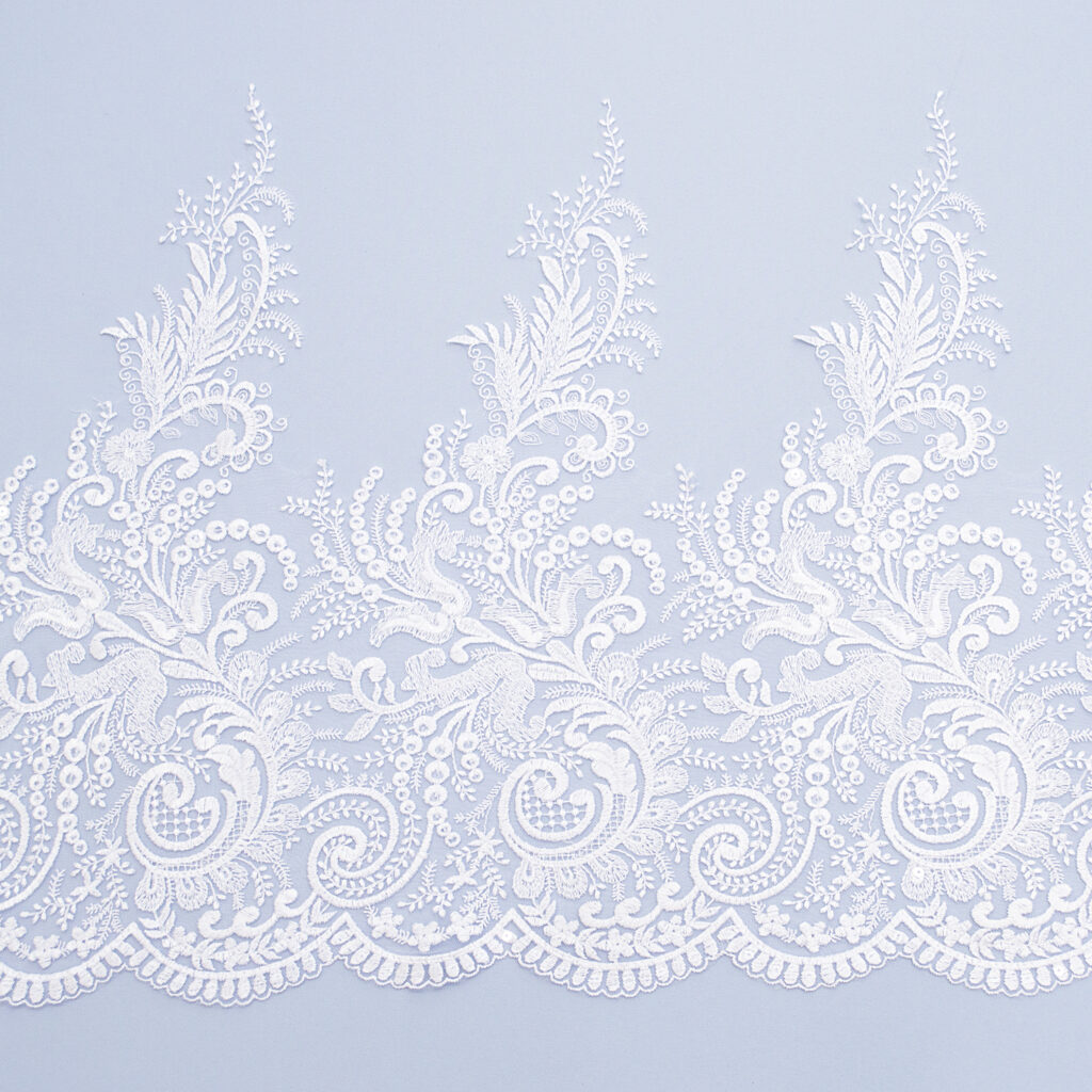 Sequined lace trim AM13787F2-N44