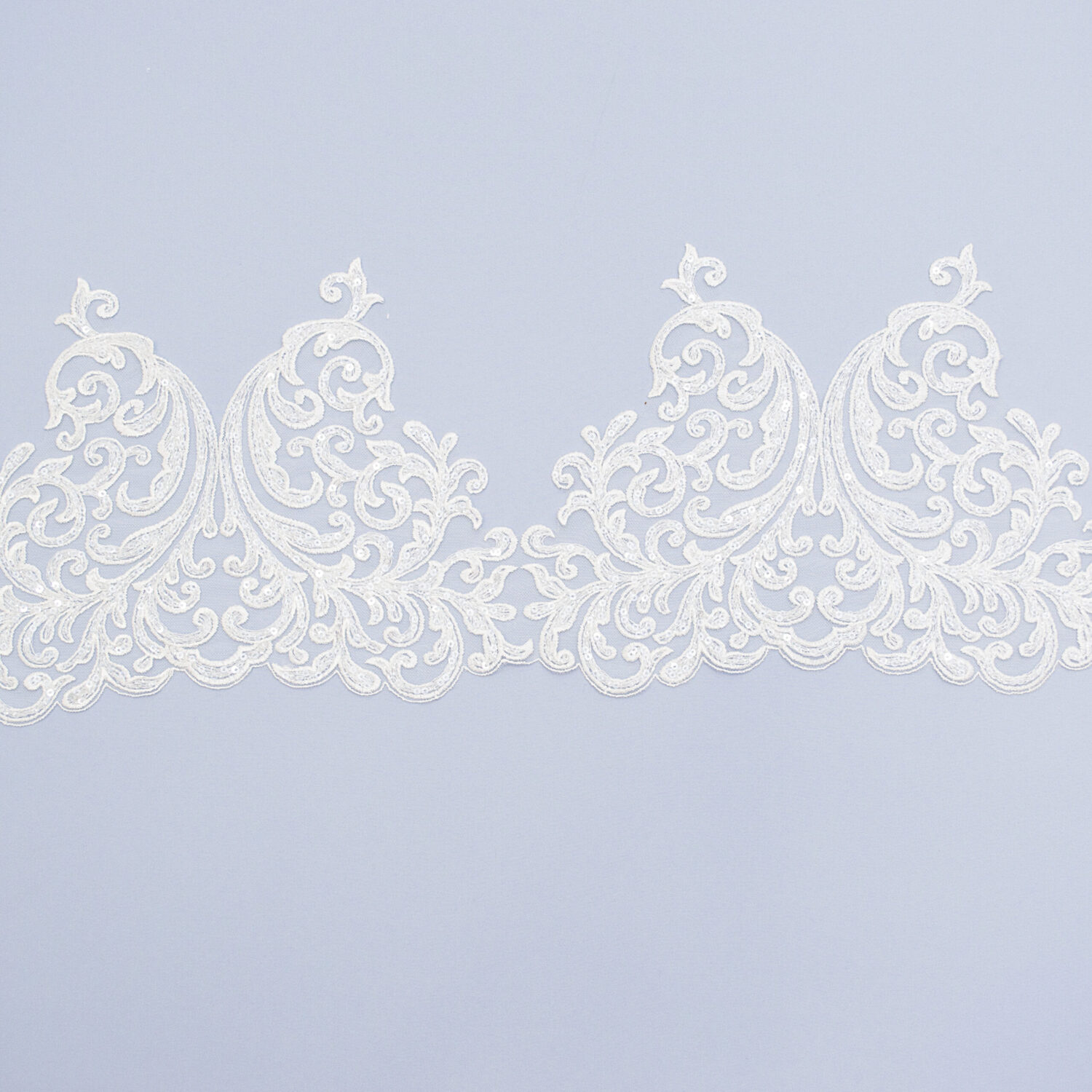 Sequined lace trim AM13800F2-N44