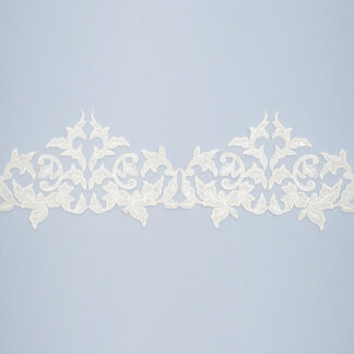 Embroidered lace trim AM13963QF2-N44