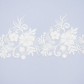 Sequined lace trim AM14030F2-N44