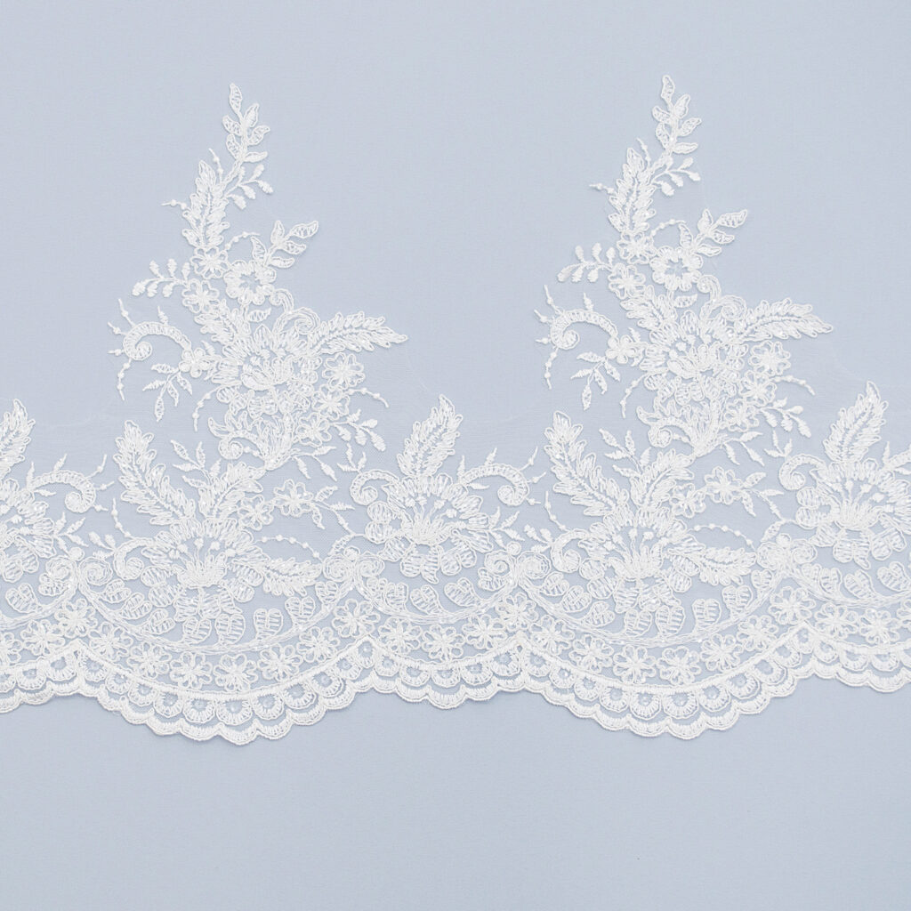 Sequined lace trim TD10108C4F-N44
