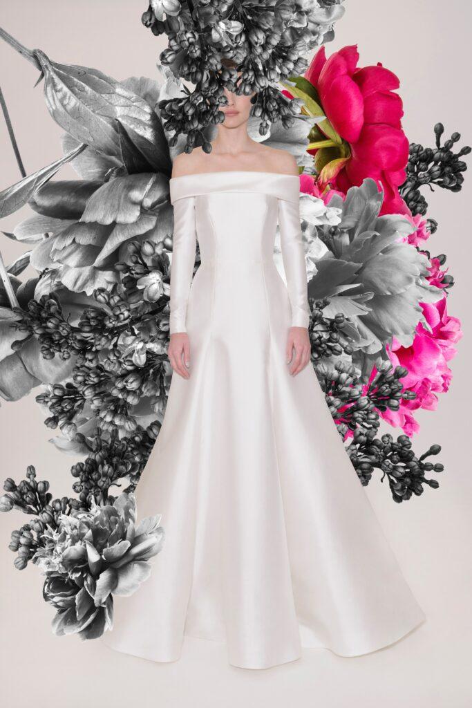 платье сатин Reem Acra