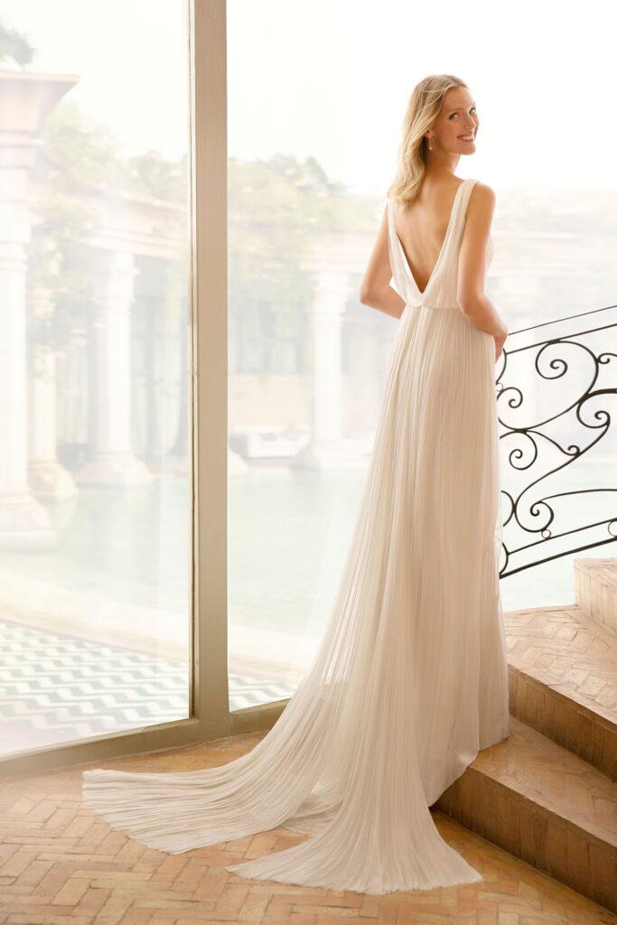 chiffon fabric on the dress