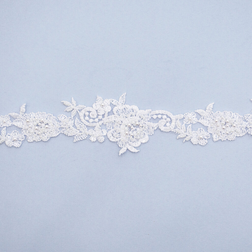 Embroidered lace trim AC11149-3VFB-N44