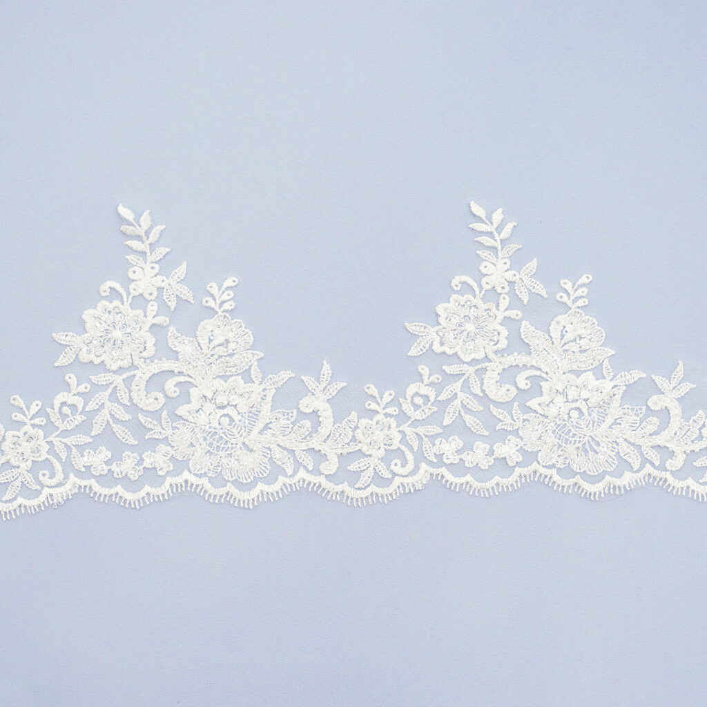 Embroidered lace trim AC11406-1V2F-N44