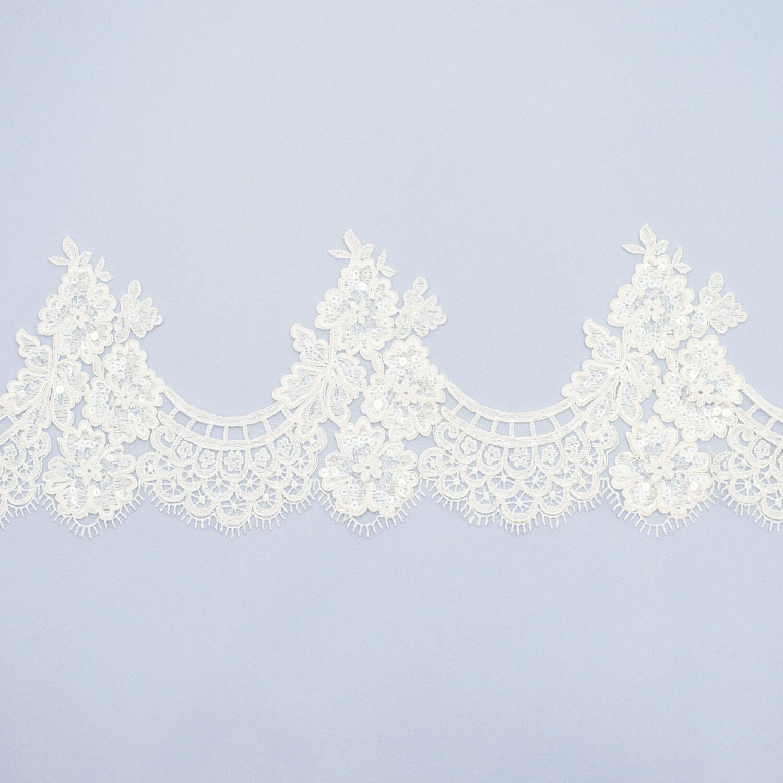 Sequined lace trim AC11570C4F2-N44