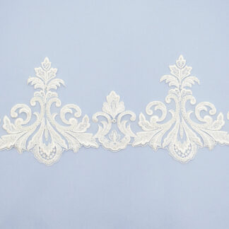 Embroidered lace trim AM13073FB-N44