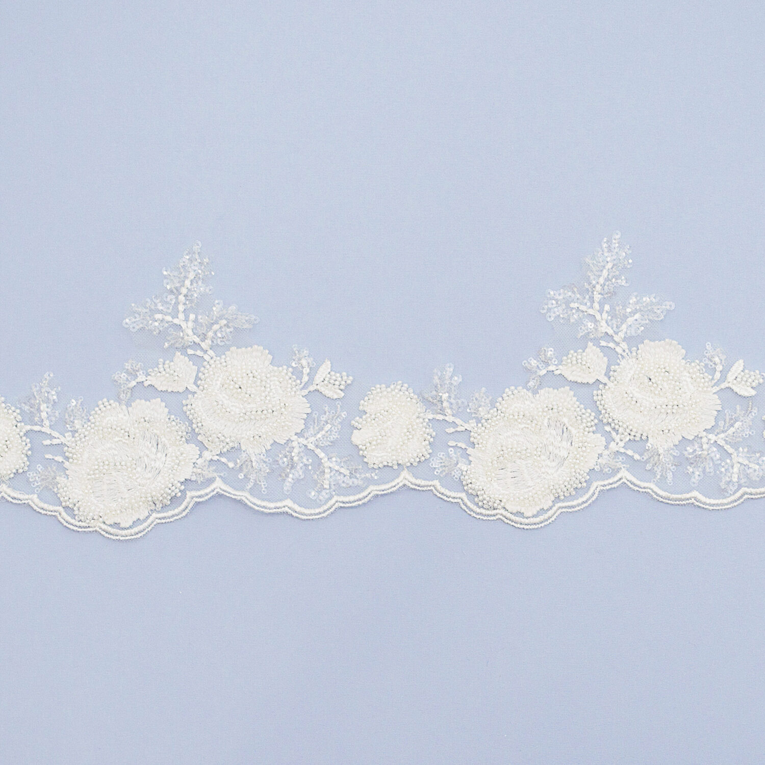 Embroidered lace trim AM13865DQF2-N44