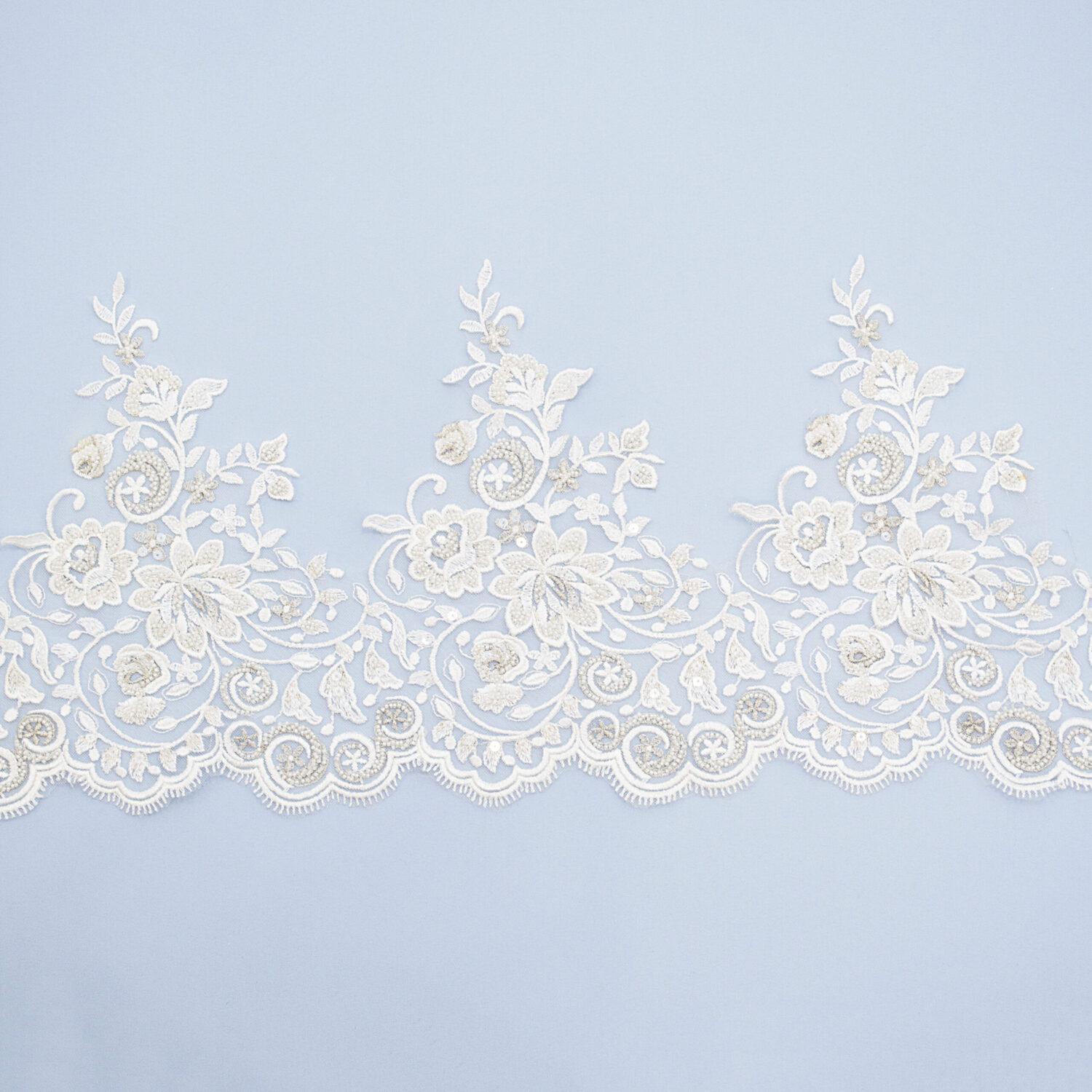 Embroidered lace trim AM14040DQF2-N44