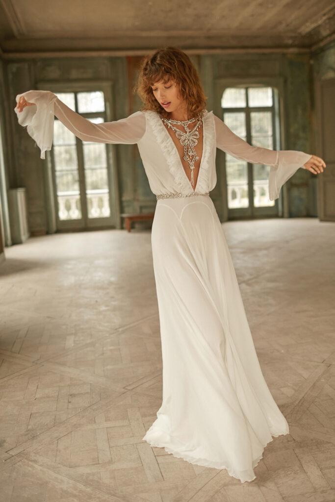 Light chiffon dresses