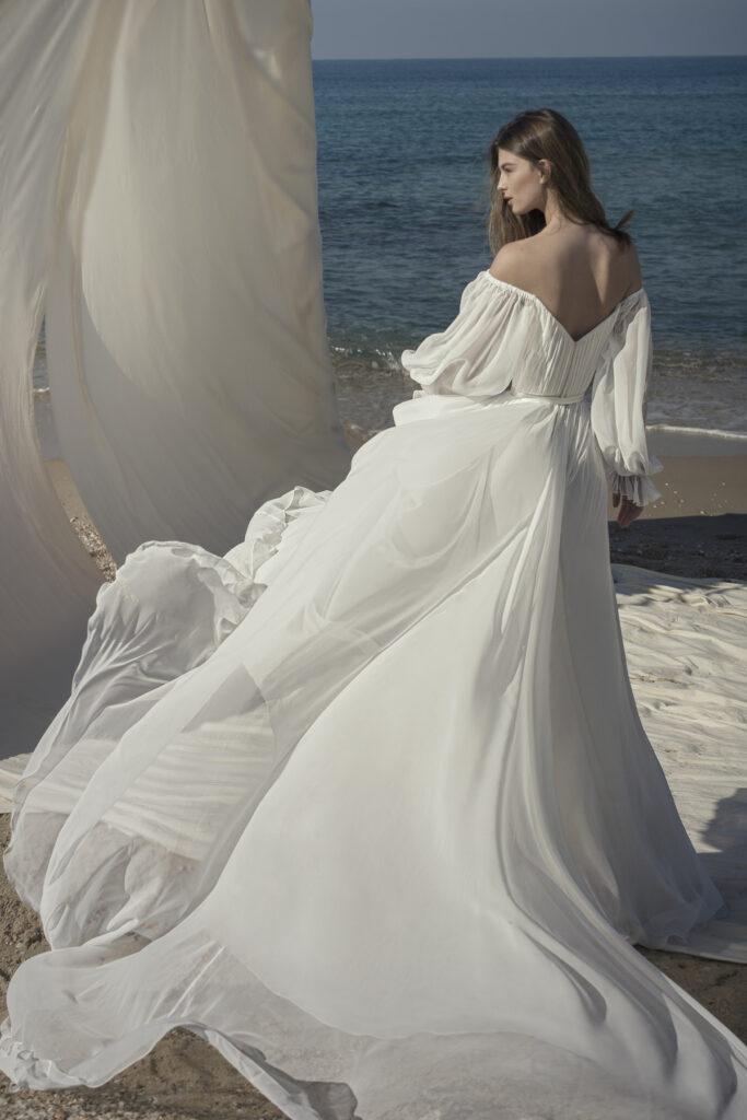 Lightness of chiffon fabrics