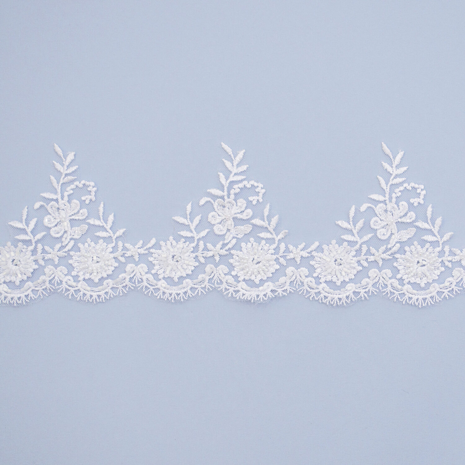 Embroidered lace trim L9138B-N44