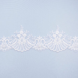 Embroidered lace trim M9411-1DFB-N44