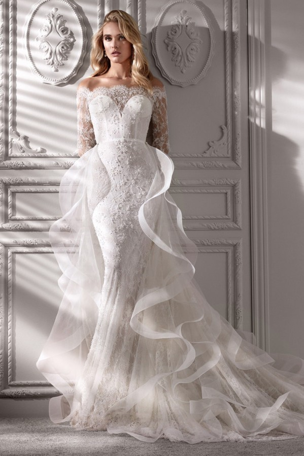 tulle for a wedding dress Nicole Spose