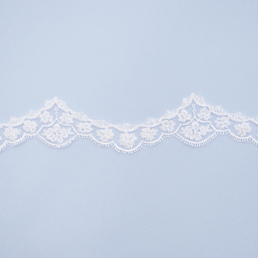 Embroidered lace trim T1310FB-N44