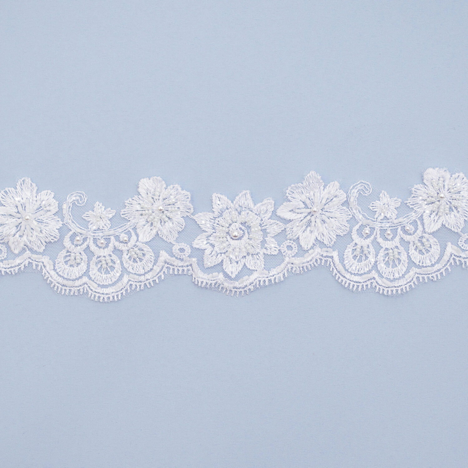 Embroidered lace trim T1480FB-N44