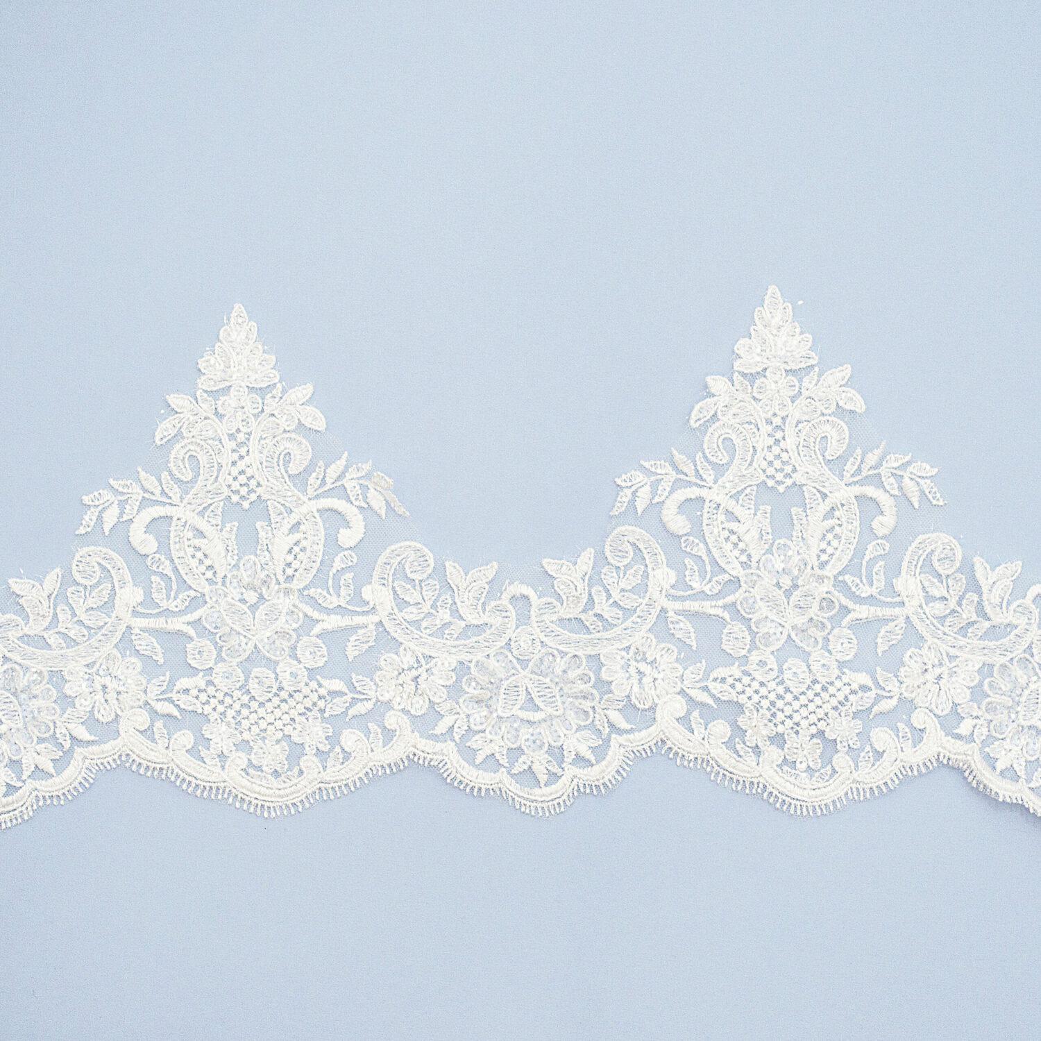 Sequined lace trim TD11093TMF-N44