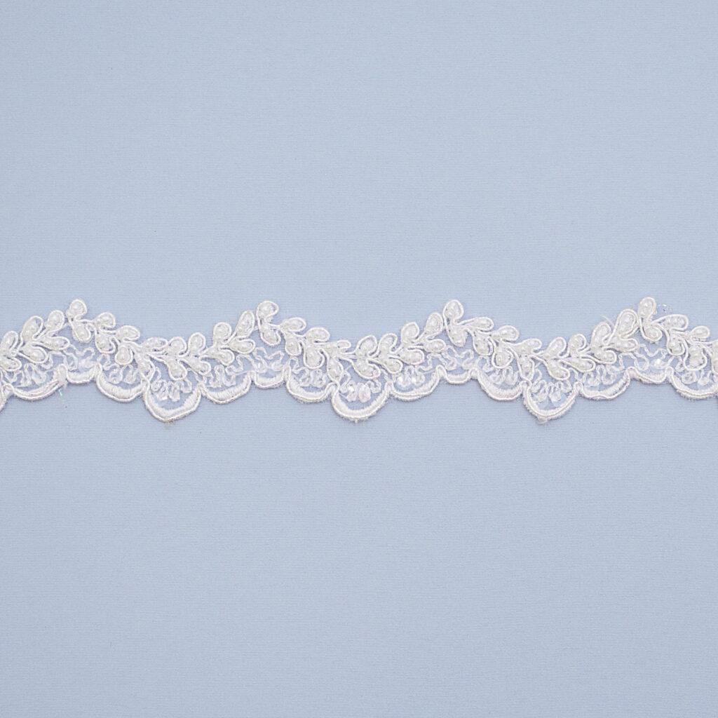 Embroidered lace trim L9053CB-PO