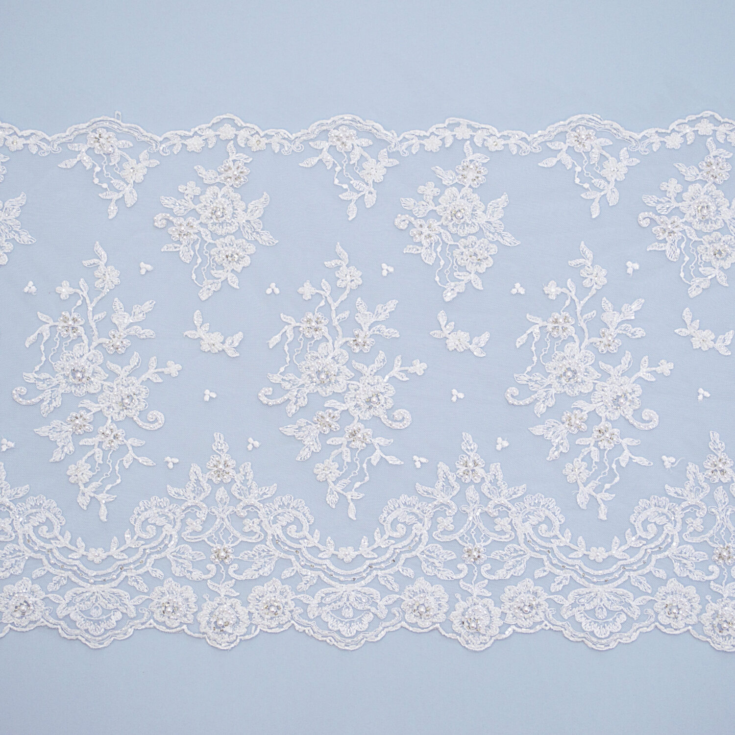 Embroidered lace trim M4068-1FB-N99