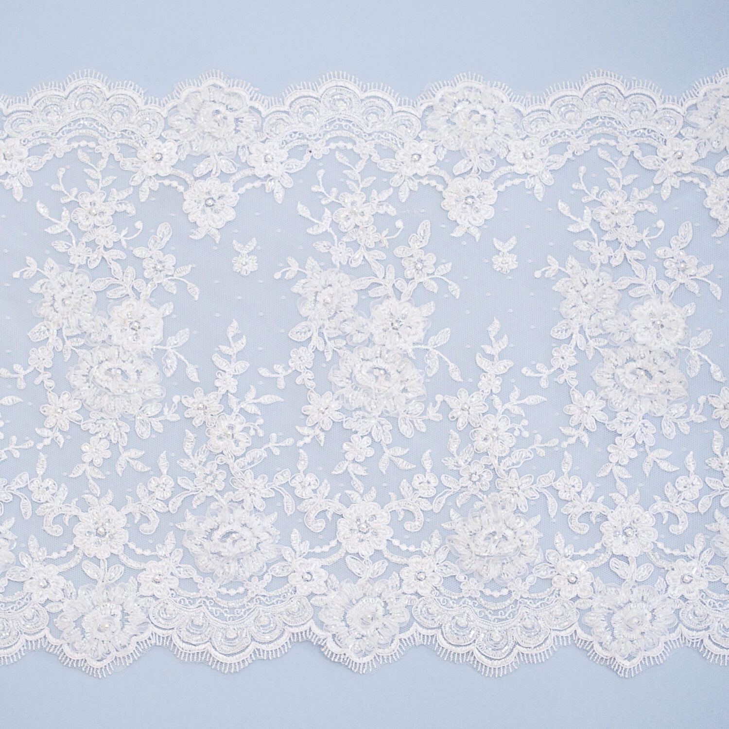 Embroidered lace trim M4550-1(D)FCG7UB-N84