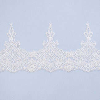 Embroidered lace trim M9569FB-N44