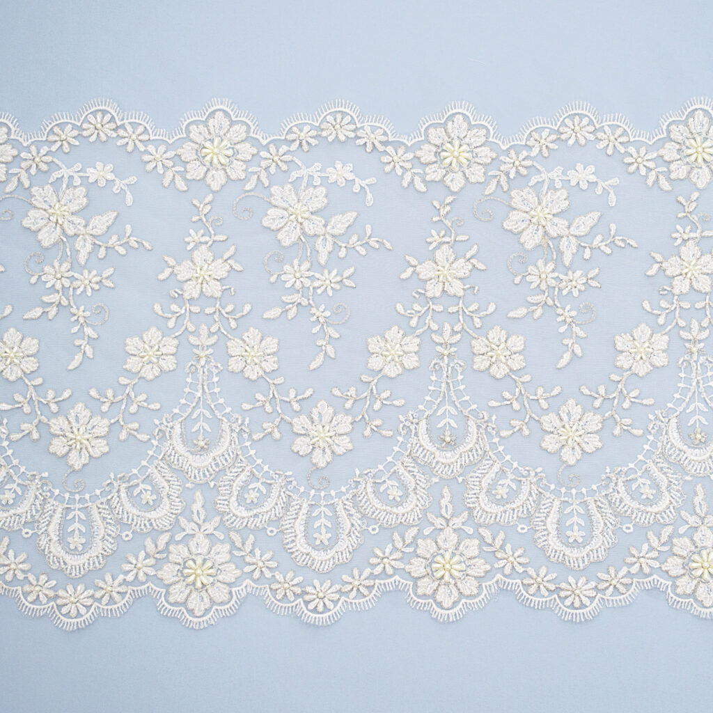Embroidered lace trim M9642DFB-2-N44