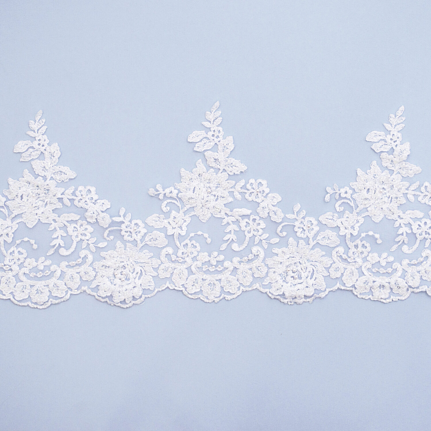 Embroidered lace trim M9997FB-N44