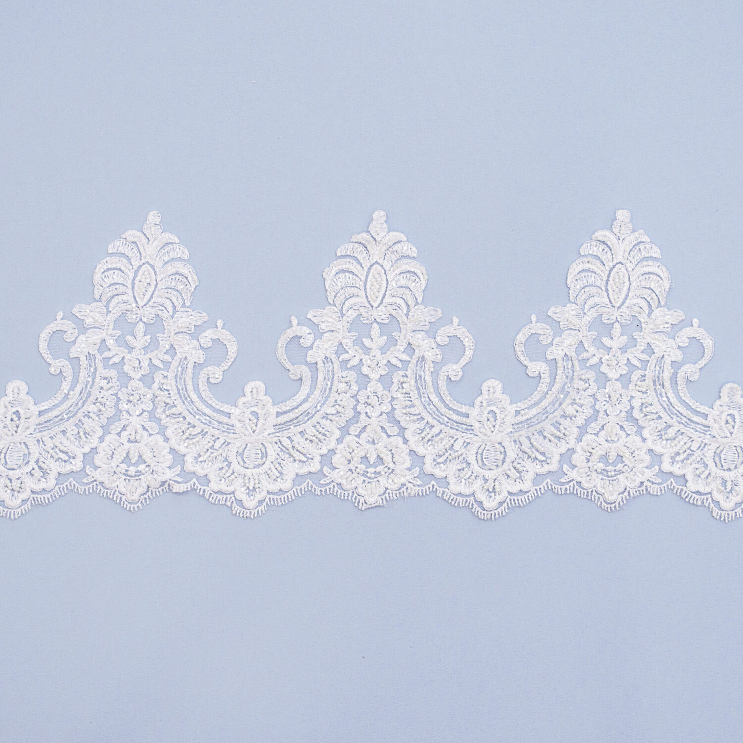 Embroidered lace trim T1125FB-N44