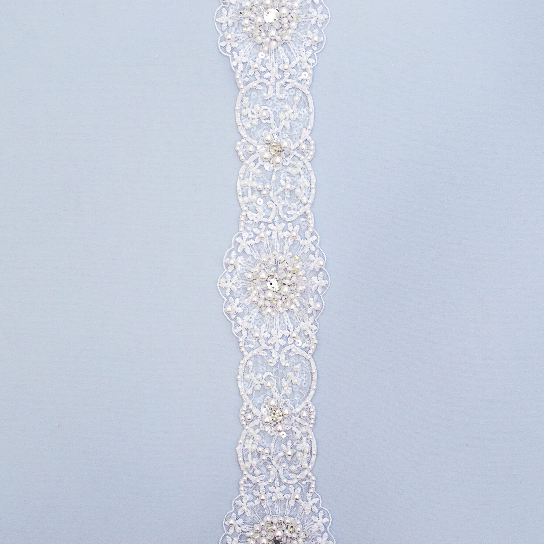 Belt with beads M9167-1FB-5-N44
