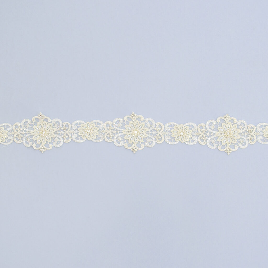 Embroidered lace trim M9835FB-N99