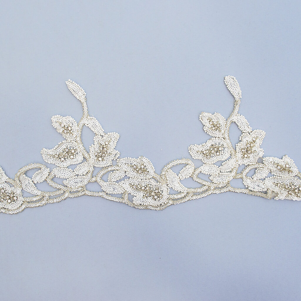 Embroidered lace trim T1156(K)FB-2H-N44
