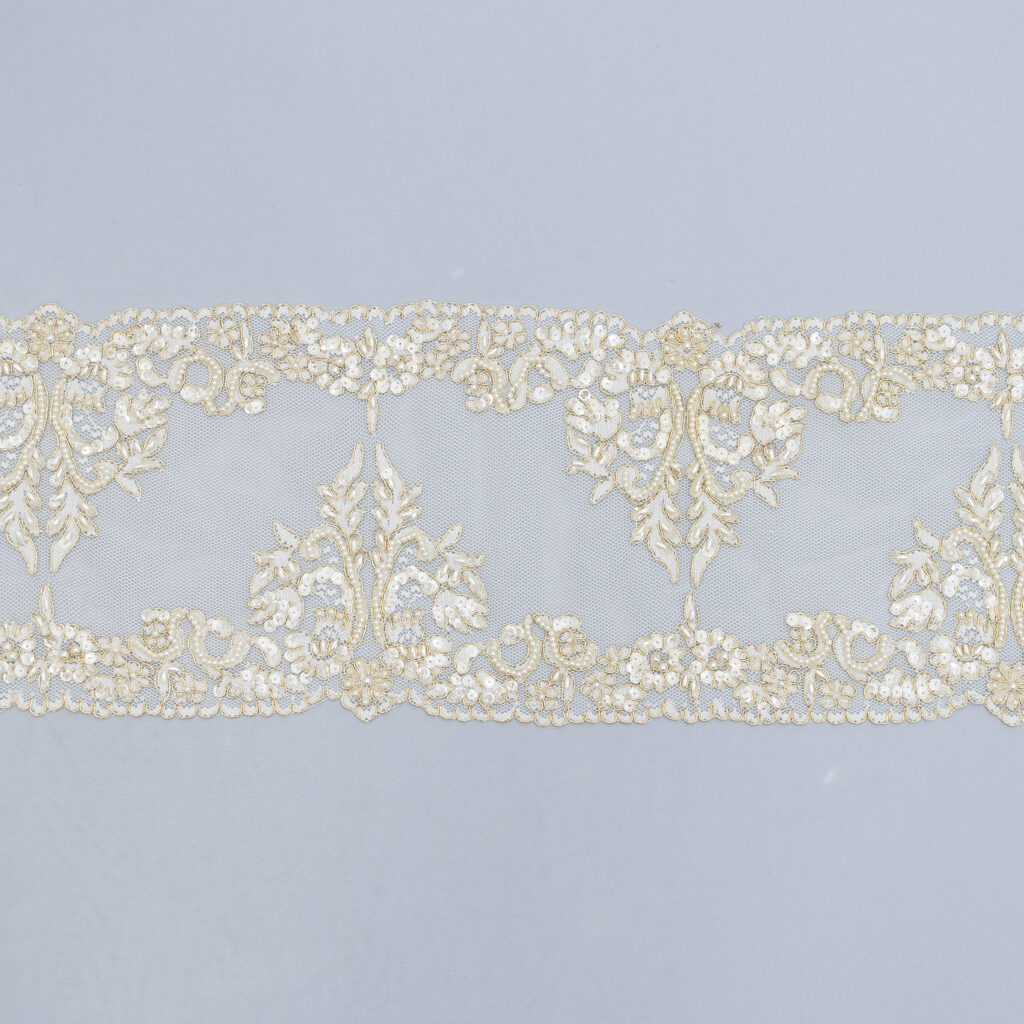 Embroidered lace trim 91018BP-B
