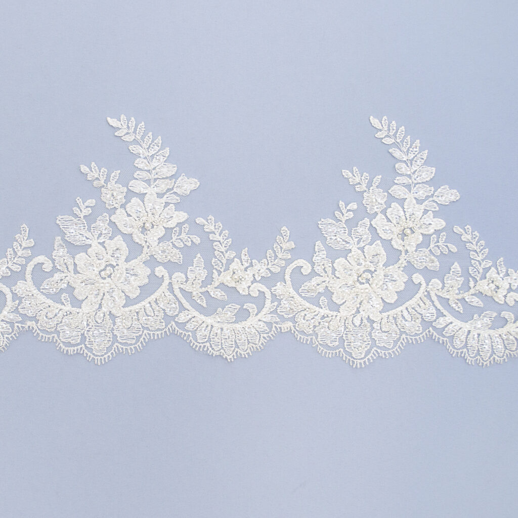 Embroidered lace trim AC11070-1VFB-N44