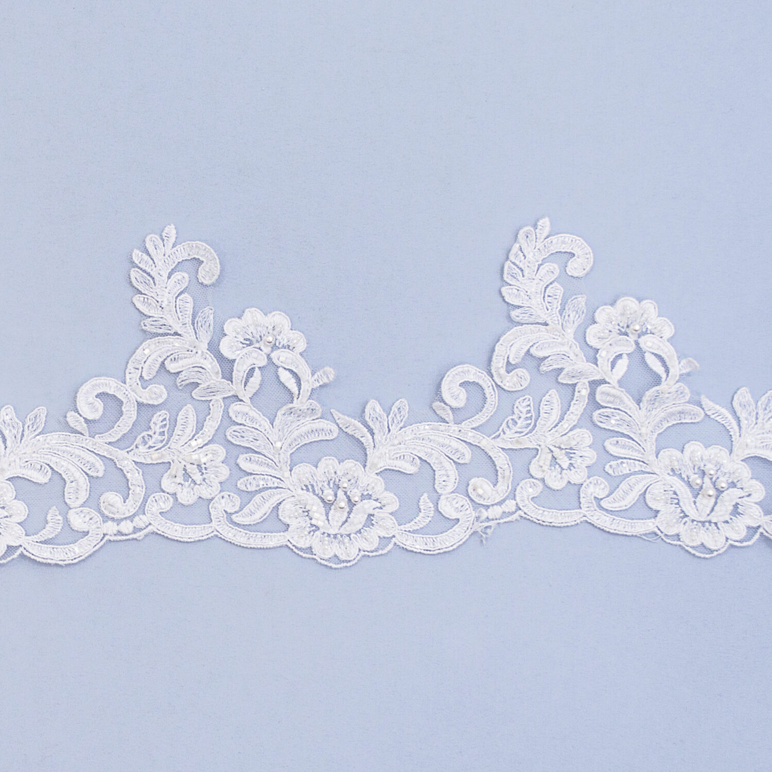 Embroidered lace trim AC11246C4FB-N44