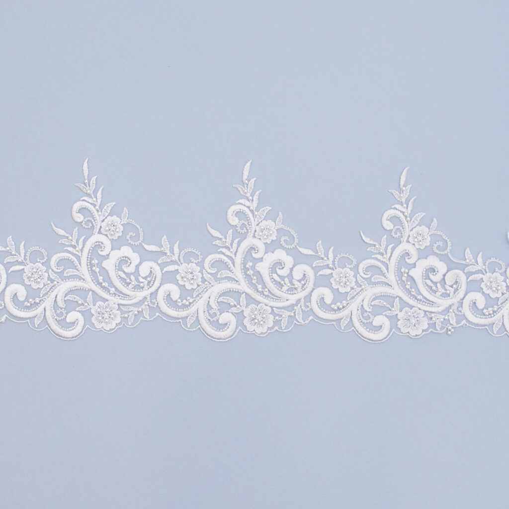 Embroidered lace trim AC11514GB-N44