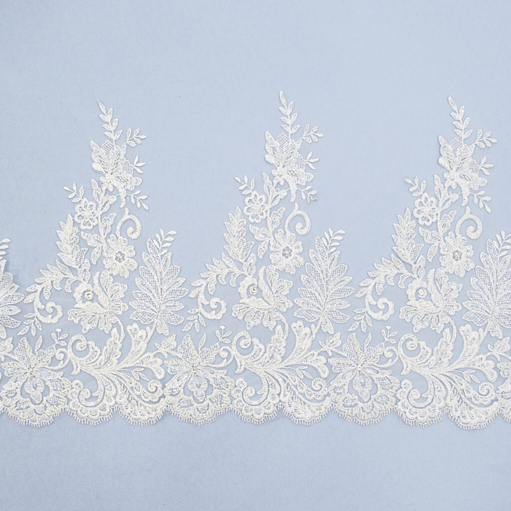 Embroidered lace trim AM13021FB-N44