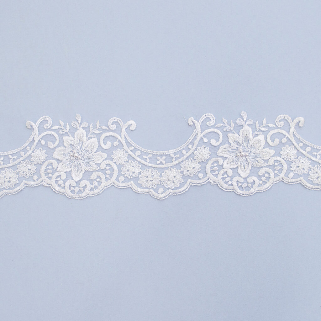 Embroidered lace trim AM13022-1FB-N44