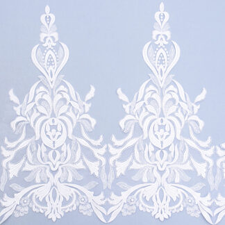 Sequined lace trim AM13114-1F-N44