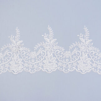 Sequined lace trim AM13150F-N44