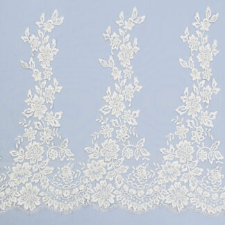 Embroidered lace trim AM13343FB-N44