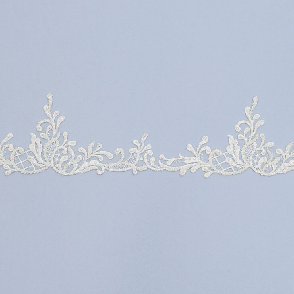Embroidered lace trim AM13433FB-N44