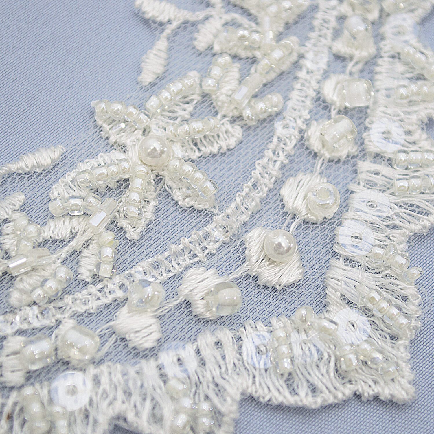 Embroidered lace trim AM13580-1F2B-N44