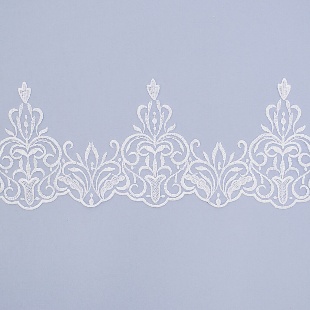Sequined lace trim AM13825F-N44