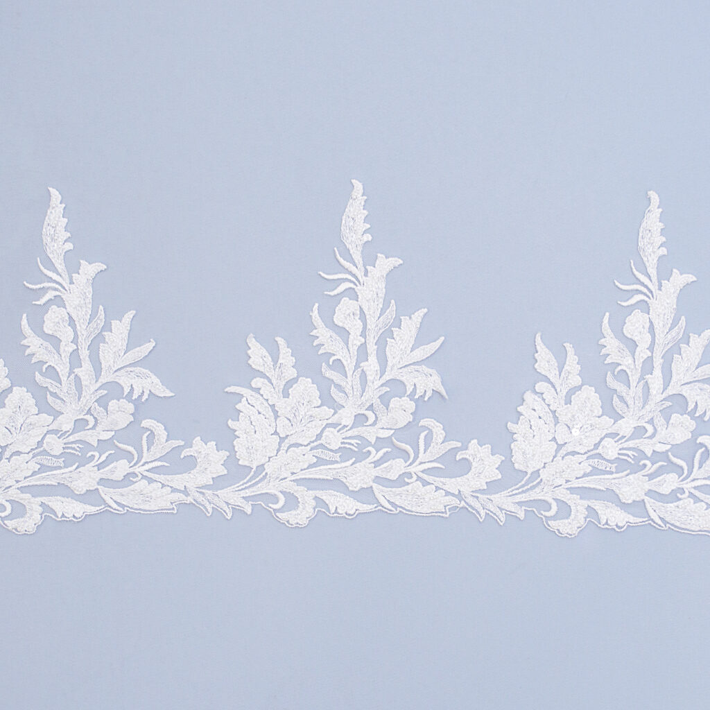Embroidered lace trim AM13836QF2-N44